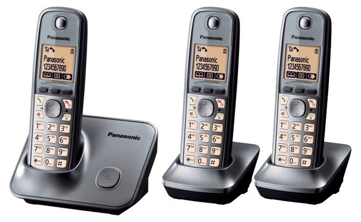 Panasonic KX-TG6613 DECT Cordless Phone - Twin Pack