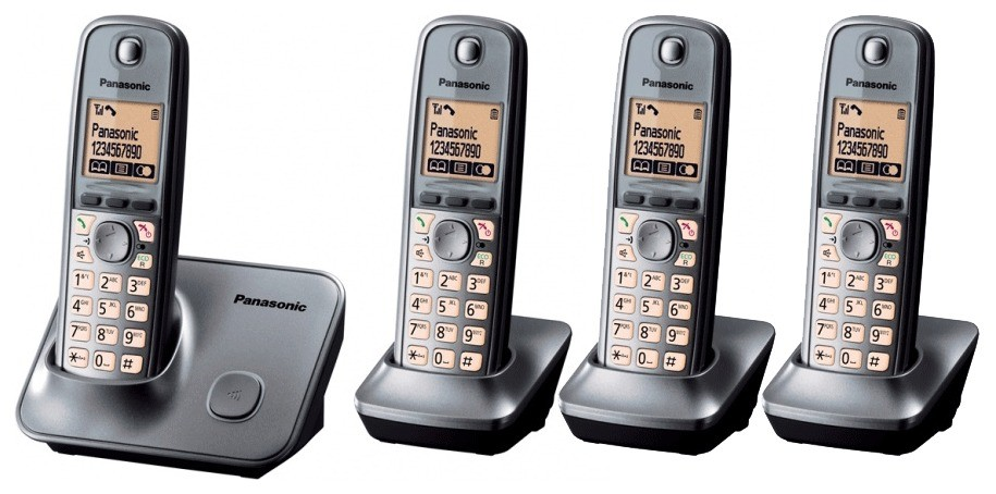 Panasonic KX-TG6614 DECT Cordless Phone - Quad Pack