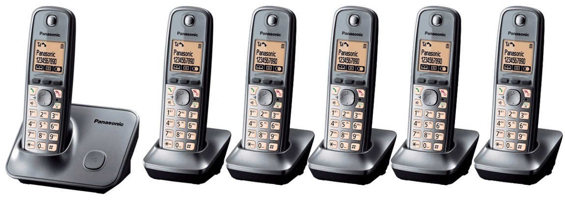 Panasonic KX-TG6616 DECT Cordless Phone - Sextet Pack