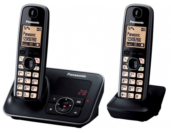 Panasonic KX-TG6622EB Twin DECT Cordless Phone With Answering Machine