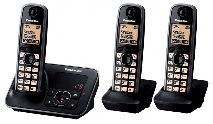 Panasonic KX-TG6623EB Triple DECT Cordless Phone With Answering Machine