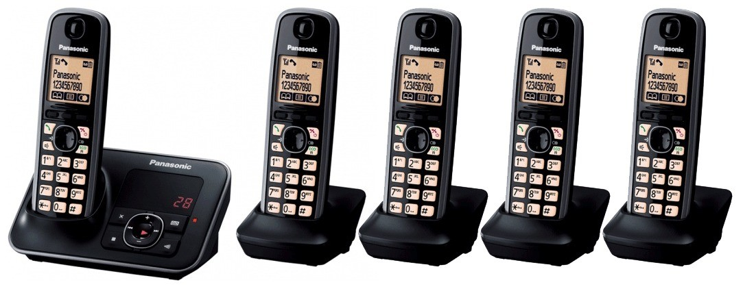 Panasonic KX-TG6625EB Quint DECT Cordless Phone With Answering Machine