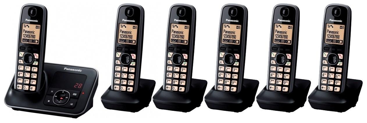 Panasonic KX-TG6626EB Sextet DECT Cordless Phone With Answering Machine