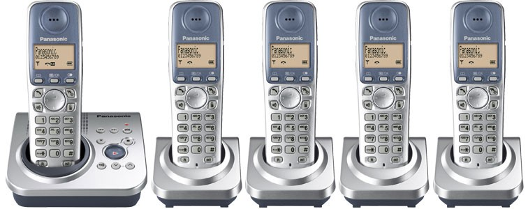 Panasonic KX-TG7225ES Quint Cordless Phone with Answering Machine