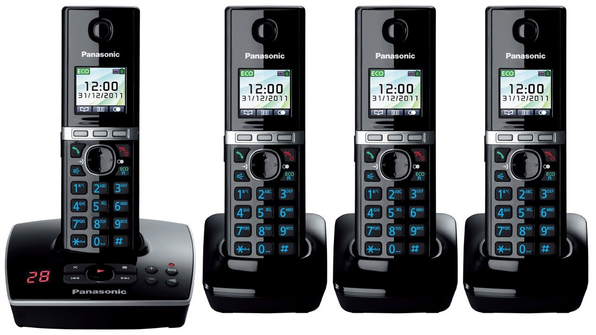 Panasonic KX-TG8064EB DECT Cordless Phone With Answering Machine - Quad Pack