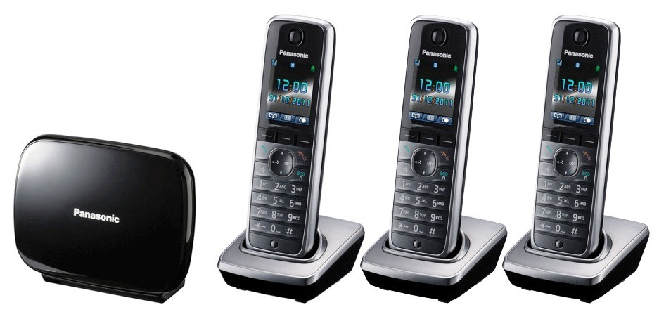 Panasonic KX-TG8623 DECT Cordless Phone With Bluetooth - Triple Pack