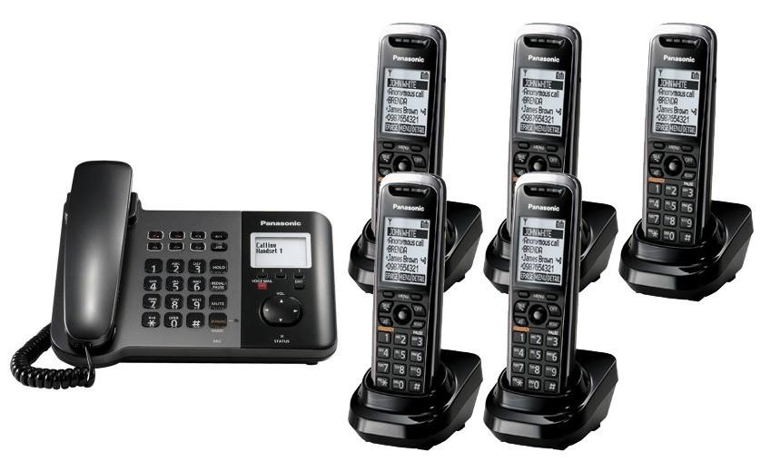 Panasonic KX-TGP550 SIP IP Phone & Quint Cordless Handsets