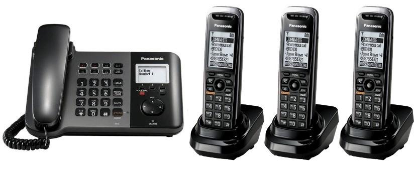 Panasonic KX-TGP550 SIP IP Phone & Triple Cordless Handsets