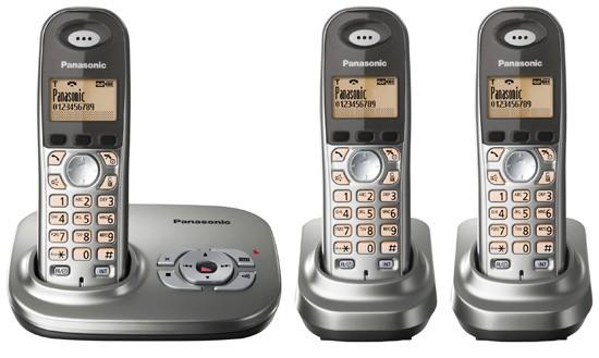 Panasonic KX-TG7323 Triple EG Cordless Phone with Answering Machine