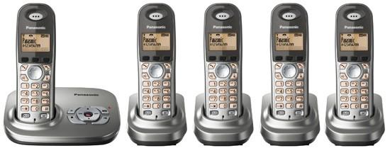 Panasonic KX-TG7325 Quint EG Cordless Phone with Answering Machine