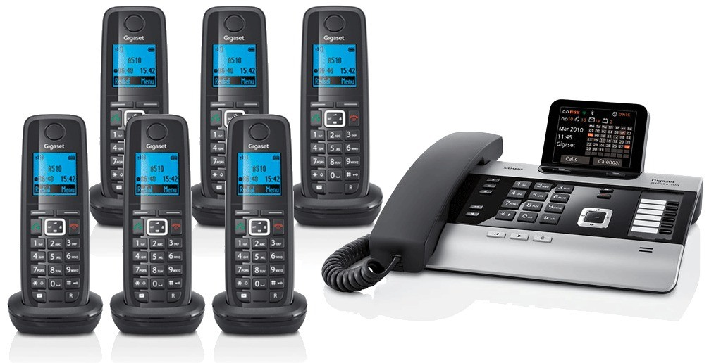 Gigaset DX800A All In One Telephone and Sextet A510H Additional Handsets