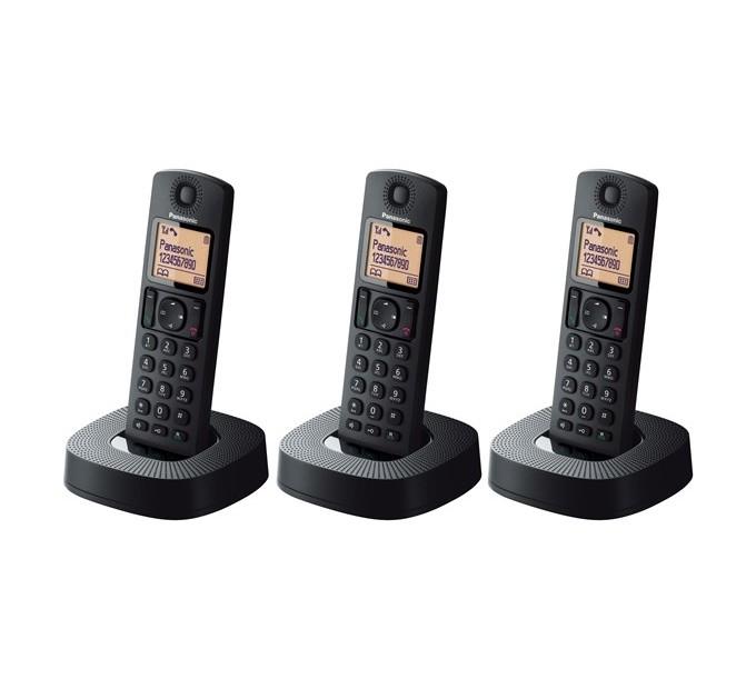 Panasonic KX-TGC313EB DECT Cordless Phone With Nuisance Call Blocking - Triple