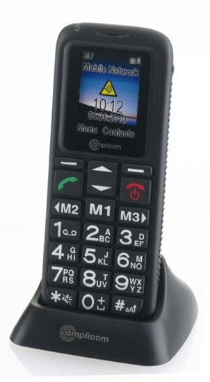 Amplicomms PowerTel M4000 Mobile Phone - Black