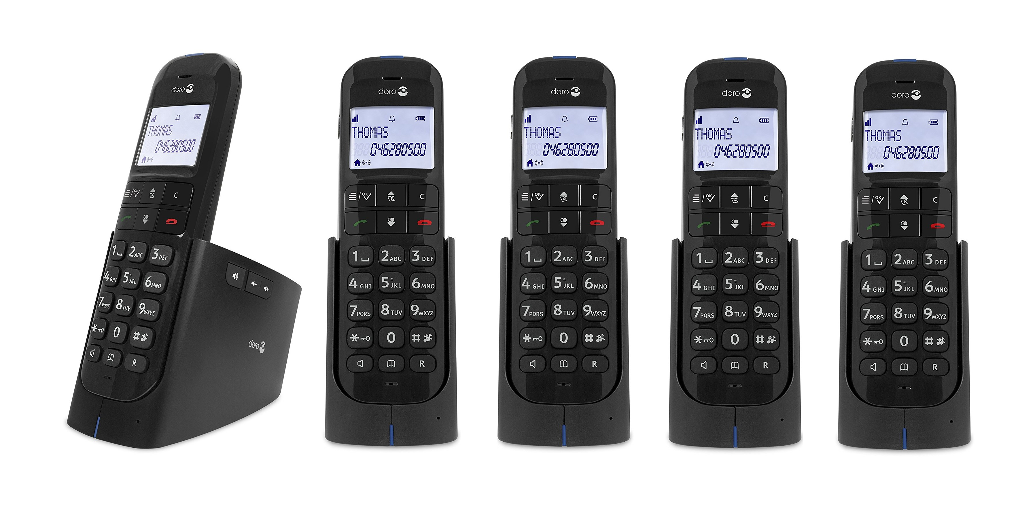 Doro Magna 2005 DECT Cordless Phone With Answering Machine - Quint