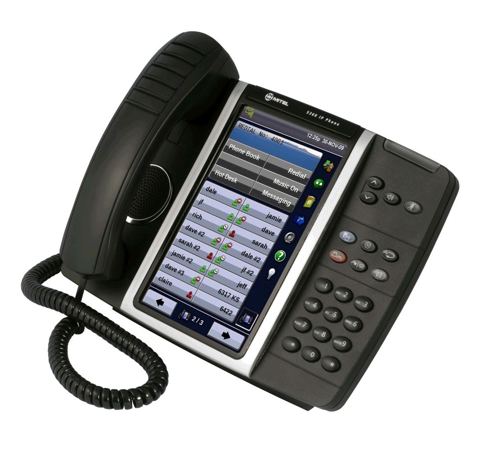 mitel 5360 touch screen ip phone from 175 new refurbished pmc telecom. Black Bedroom Furniture Sets. Home Design Ideas