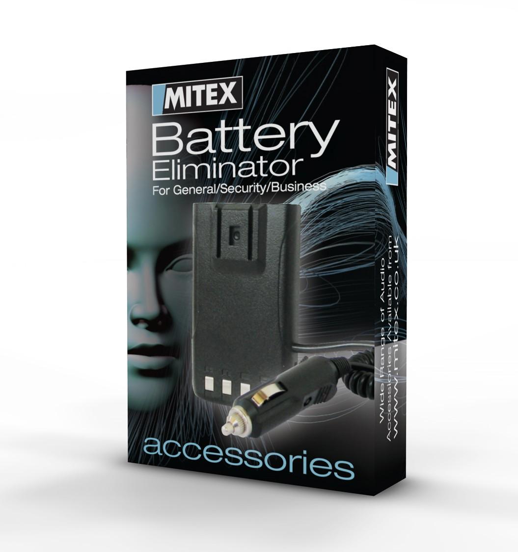 Mitex Battery Eliminator pack including 12V/24V Cigarette Lighter adapter for Mitex General/Security/Business