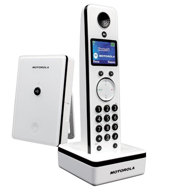 Motorola LIVN D801 DECT Cordless Phone - White
