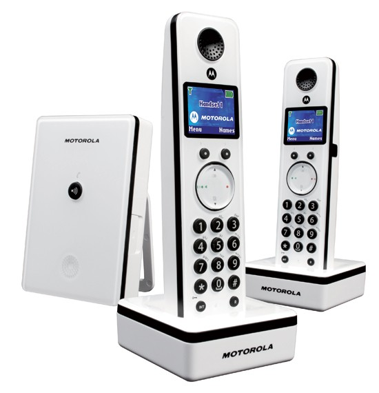 Motorola LIVN D802 DECT Cordless Phone Twin Pack - White
