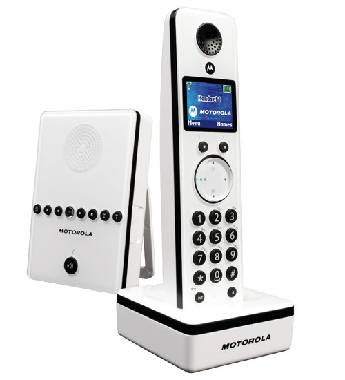 Motorola LIVN D811 DECT Cordless Phone with Answering Machine - White
