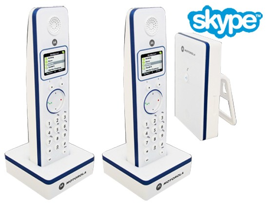 Motorola LIVN D852 Twin Pack Skype enabled Cordless Phones