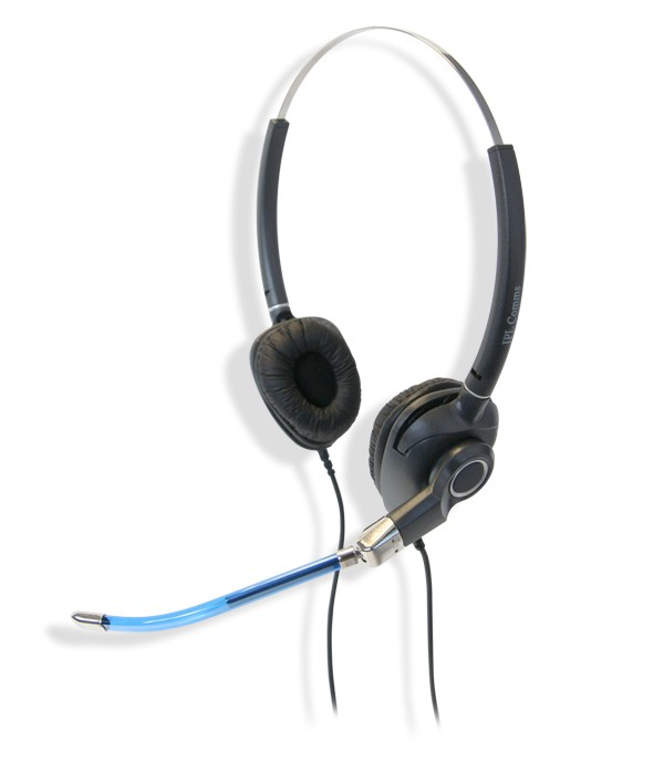 JPL MRC-PRO-02PB Two Ear Voicetube Headset (Including FREE Connection Lead)