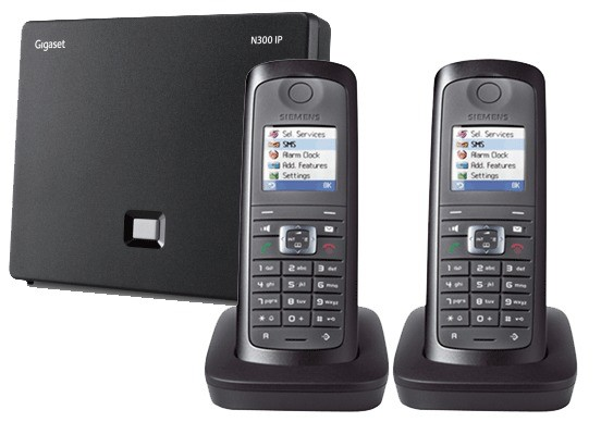Siemens Gigaset N300IP DECT Base And E49H Additional Handset - Twin Pack
