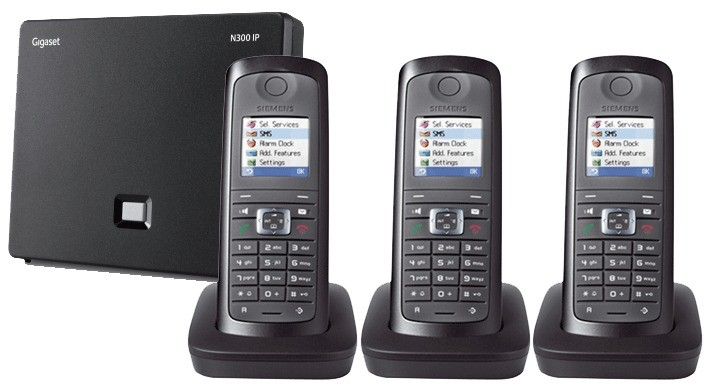 Siemens Gigaset N300IP DECT Base And E49H Additional Handset - Triple Pack