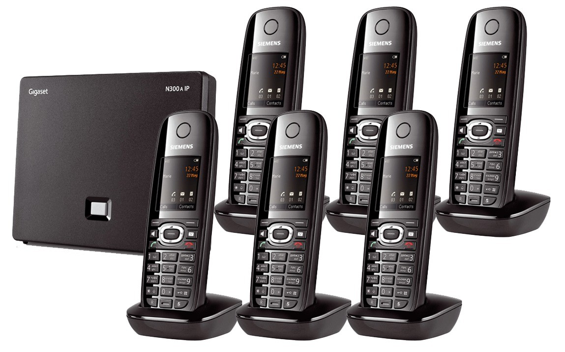 Siemens Gigaset N300A IP DECT Base With Answering Machine And C610H Additional Handset - Sextet Pack