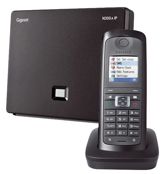 Siemens Gigaset N300A IP DECT Base With Answering Machine And E49H Additional Handset