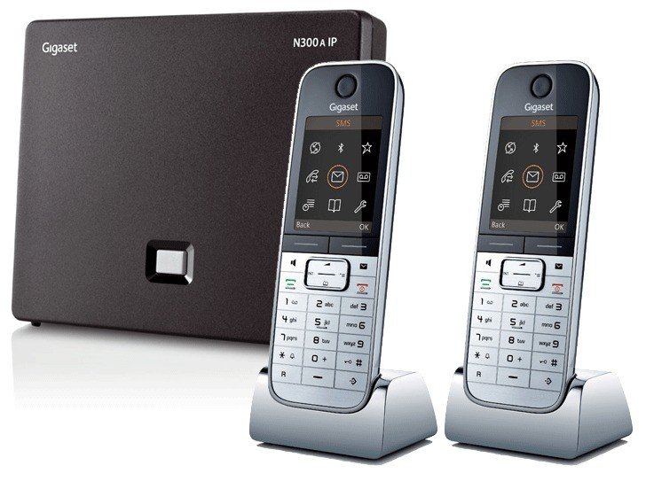 Siemens Gigaset N300A IP DECT Base With Answering Machine And Twin SL78H Additional Handset