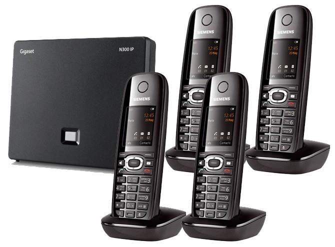 Siemens Gigaset N300IP DECT Base And C610H Additional Handset - Quad Pack