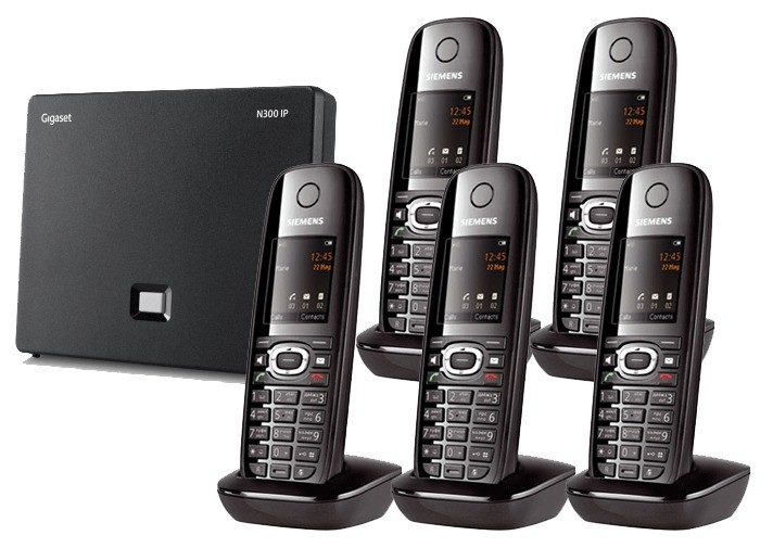 Siemens Gigaset N300IP DECT Base And C610H Additional Handset - Quint Pack