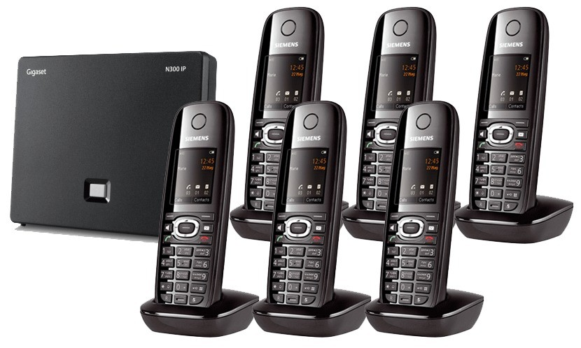 Siemens Gigaset N300IP DECT Base And C610H Additional Handset - Sextet Pack