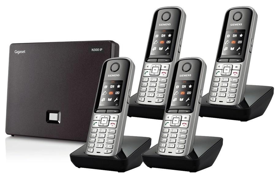 Siemens Gigaset N300IP DECT Base And S810H Additional Handsets - Quad Pack