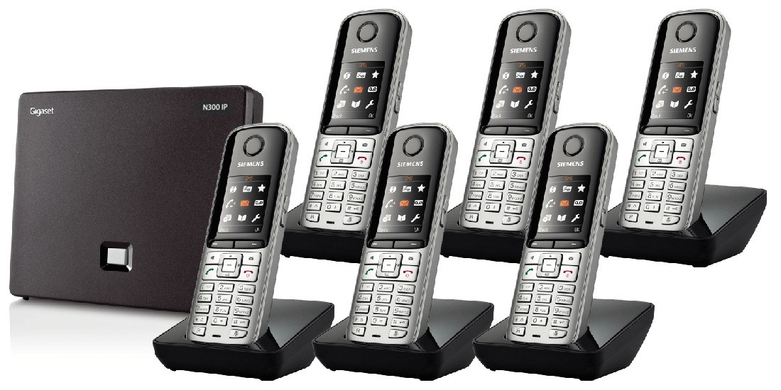 Siemens Gigaset N300IP DECT Base And S810H Additional Handsets - Sextet Pack