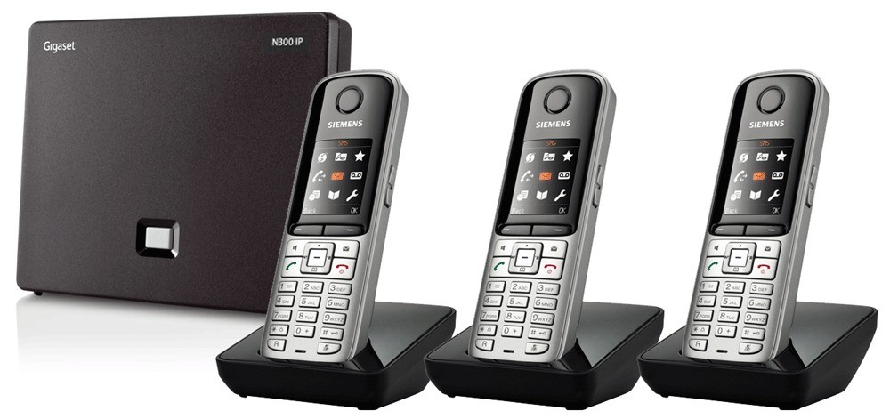 Siemens Gigaset N300IP DECT Base And S810H Additional Handsets - Triple Pack