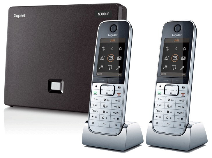 Siemens Gigaset N300IP DECT Base And Twin SL78H Additional Handsets