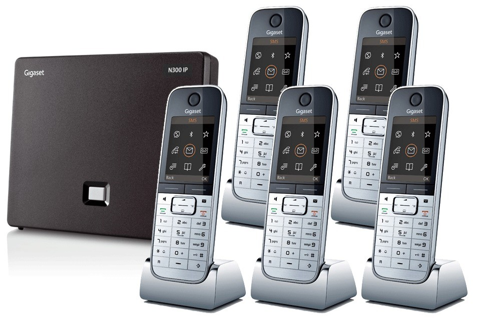 Siemens Gigaset N300IP DECT Base And Quint SL78H Additional Handsets
