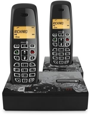 Doro NeoBio 25R+1 Twin Pack DECT Cordless Phone With Answering Machine
