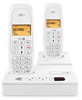 Doro NeoBio 25R+1 White Twin Pack DECT Cordless Phone With Answering Machine