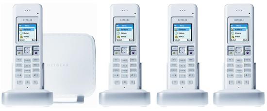 Netgear SPH200D Quad - Dual Mode, Skype & Landline Phone