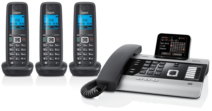 Gigaset DX800A All In One Telephone and Triple A510H Additional Handsets