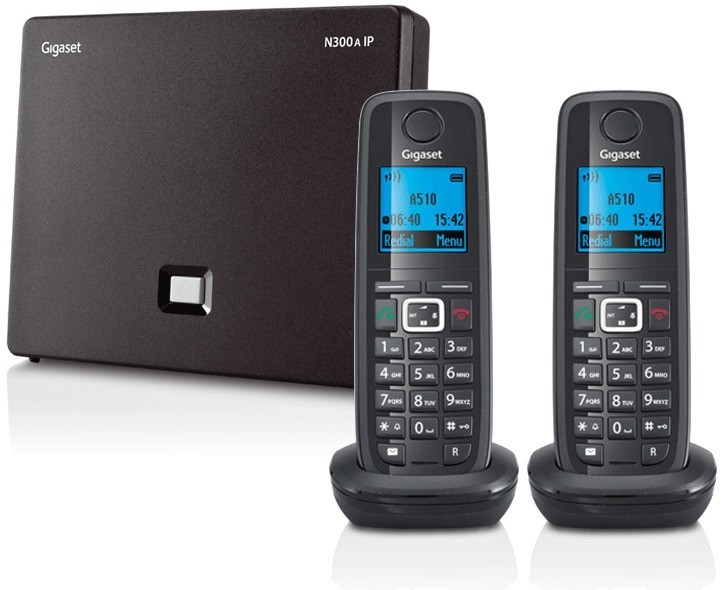 Siemens Gigaset N300A IP DECT Base With Answering Machine And A510H Additional Handset - Twin Pack