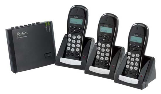 Orchid LR4620 Low Radiation DECT Triple Cordless Phone with Answering Machine