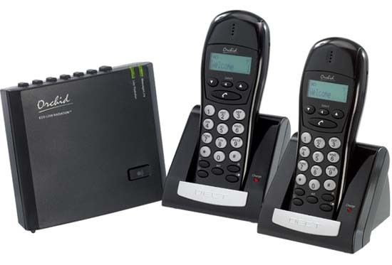 Orchid LR4620 Low Radiation DECT Cordless Phone with Answering Machine Twin Handsets