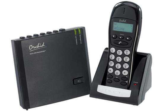 Orchid LR4620 Low Radiation DECT Cordless Phone with Answering Machine Single Handset