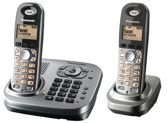 Panasonic KX-TG7342 Twin DECT Cordless Phone with Answering Machine