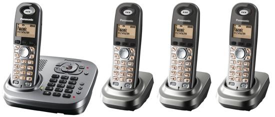 Panasonic KX-TG7344 Quad DECT Cordless Phone with Answering Machine