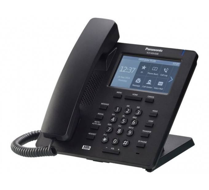 Panasonic KX-HDV330 SIP Deskphone - Black - Side