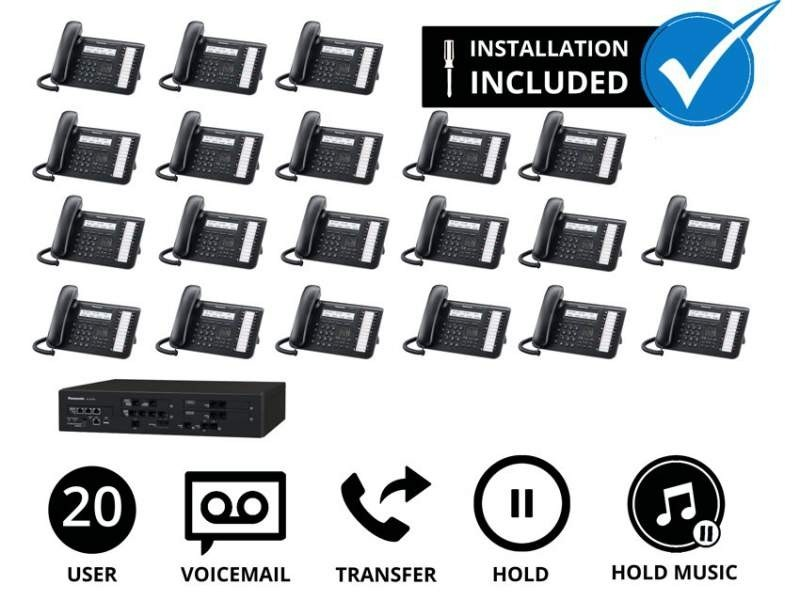 Panasonic Professional Business Phone System for 20 Users (Analogue)